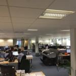 New office layout looking towards door